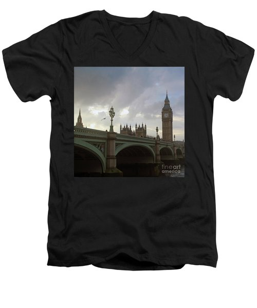 Ben And The Bridge Men's V-Neck T-Shirt