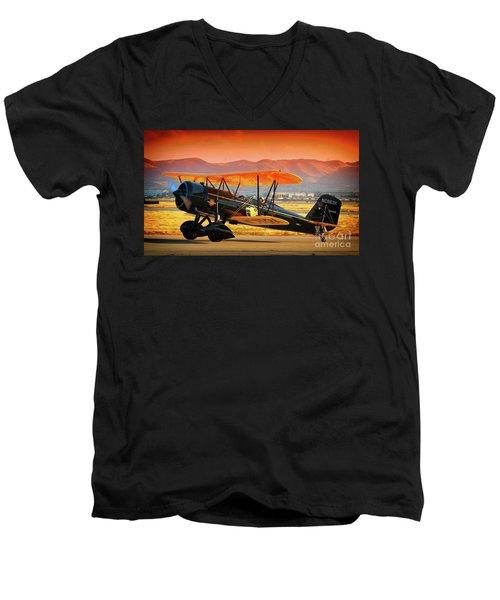 Ben Scott's Stearman Speedmail 4e Version 2 Men's V-Neck T-Shirt