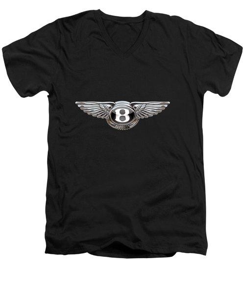 Bentley - 3d Badge On Black Men's V-Neck T-Shirt