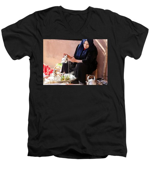 Men's V-Neck T-Shirt featuring the photograph Berber Woman by Andrew Fare