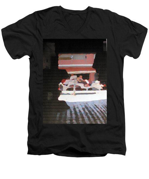 Men's V-Neck T-Shirt featuring the photograph Bermuda Carriage Impressions by Ian  MacDonald