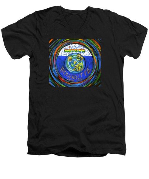 Bernadette By Four Tops Men's V-Neck T-Shirt by Jeanette Jarmon