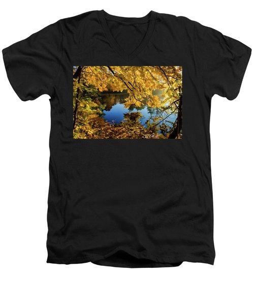Bernharts Dam 15-244 Men's V-Neck T-Shirt