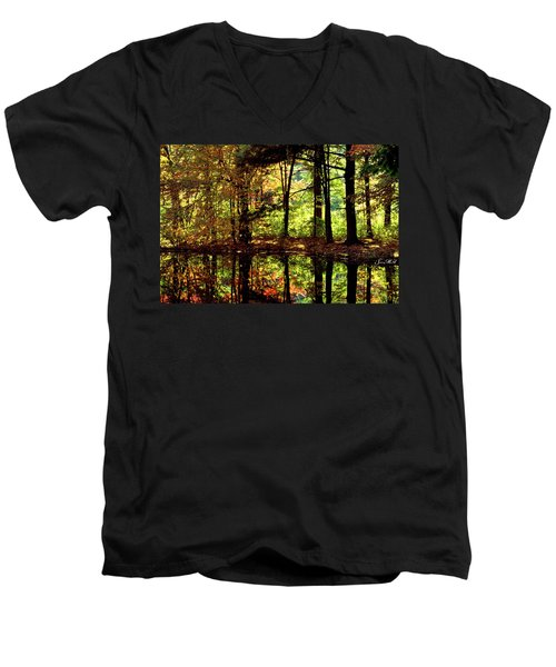 Bernharts Dam Fall 006 Men's V-Neck T-Shirt