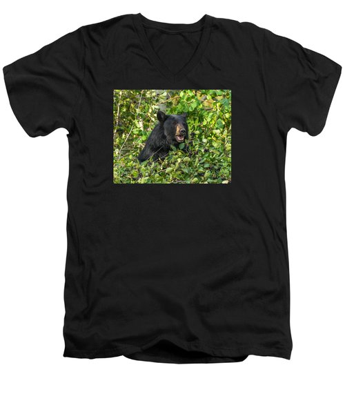 Men's V-Neck T-Shirt featuring the photograph Berry Good by Yeates Photography