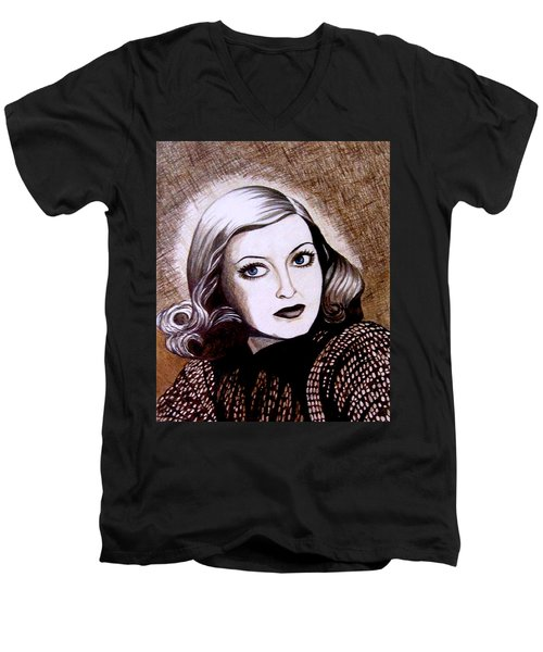 Bette Davis 1941 Men's V-Neck T-Shirt