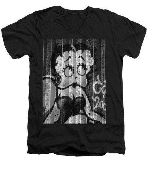 Betty Boop ... Men's V-Neck T-Shirt by Juergen Weiss