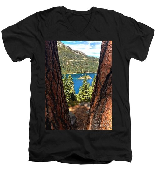 Between The Pines Men's V-Neck T-Shirt