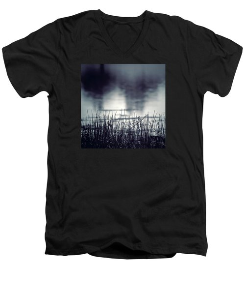 Men's V-Neck T-Shirt featuring the photograph Between The Waters by Trish Mistric