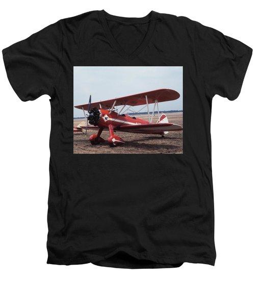 Bi-wing-6 Men's V-Neck T-Shirt