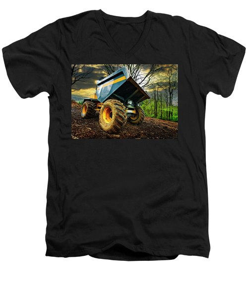Big Bad Dumper Truck Men's V-Neck T-Shirt
