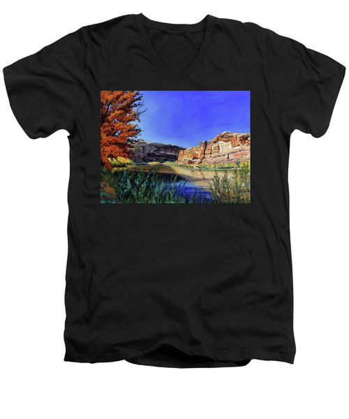 Big Bend On The Colorado Men's V-Neck T-Shirt