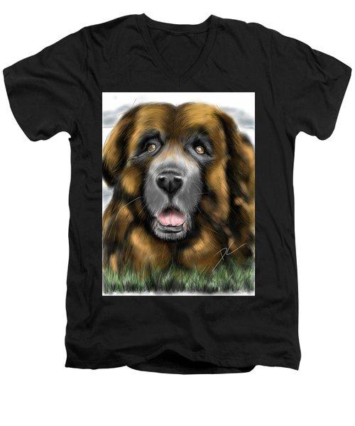 Big Dog Men's V-Neck T-Shirt