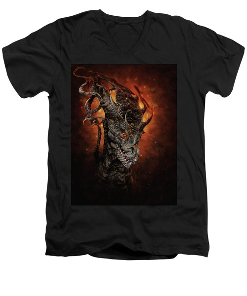 Big Dragon Men's V-Neck T-Shirt