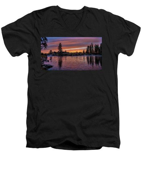 Big Eddy Sunrise Men's V-Neck T-Shirt