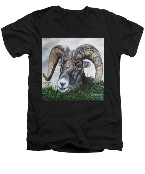Big Horned Sheep Men's V-Neck T-Shirt
