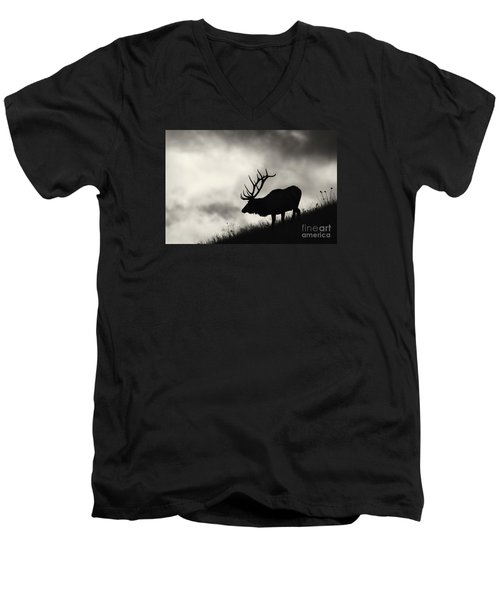Men's V-Neck T-Shirt featuring the photograph Big Sky by Aaron Whittemore
