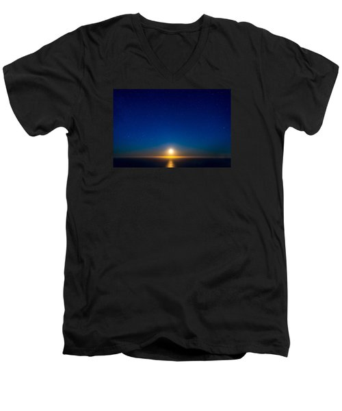 Big Sur Moonset Men's V-Neck T-Shirt