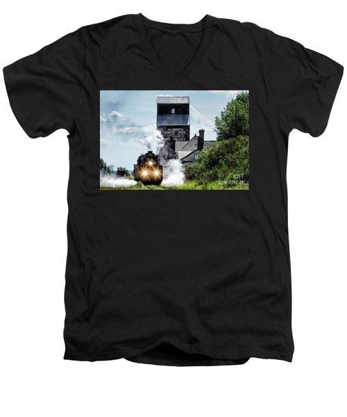 Big Valley Steam Men's V-Neck T-Shirt