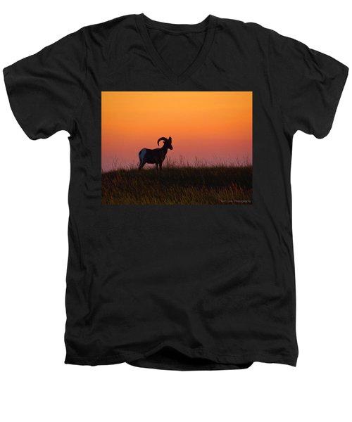 Bighorn Sunset Men's V-Neck T-Shirt
