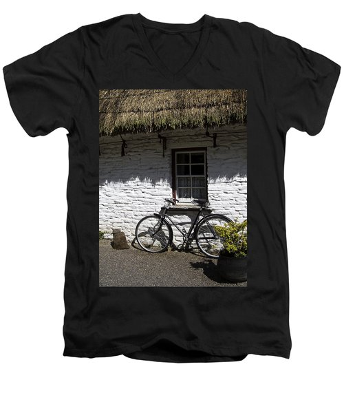 Bike At The Window County Clare Ireland Men's V-Neck T-Shirt