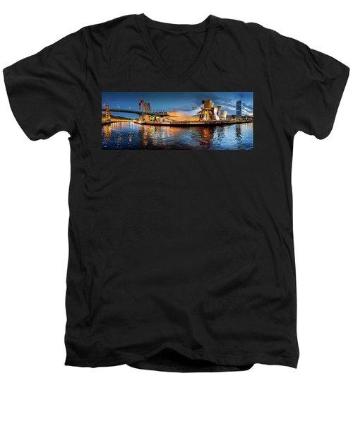 Bilbao Guggenheim Men's V-Neck T-Shirt