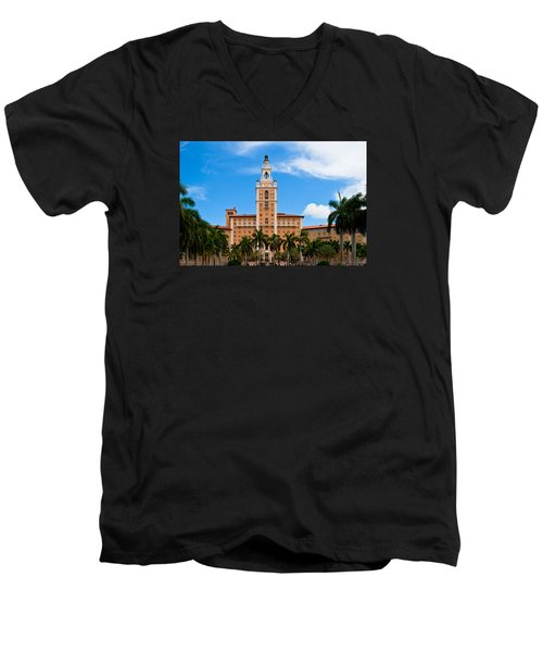 Men's V-Neck T-Shirt featuring the photograph Biltmore Hotel by Ed Gleichman