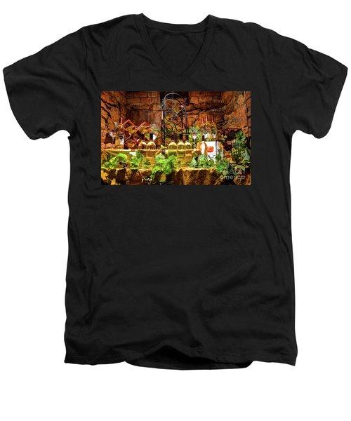 Biltmore Wine Men's V-Neck T-Shirt by Savannah Gibbs