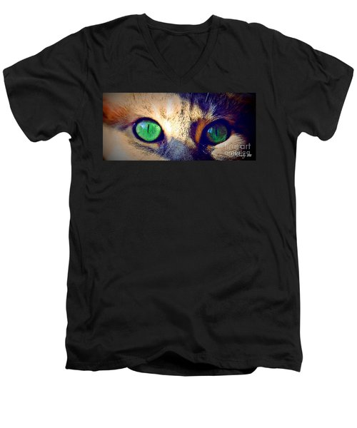 Bink Eyes Men's V-Neck T-Shirt