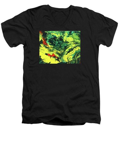 Bird Of Paradise Men's V-Neck T-Shirt by Ralph White