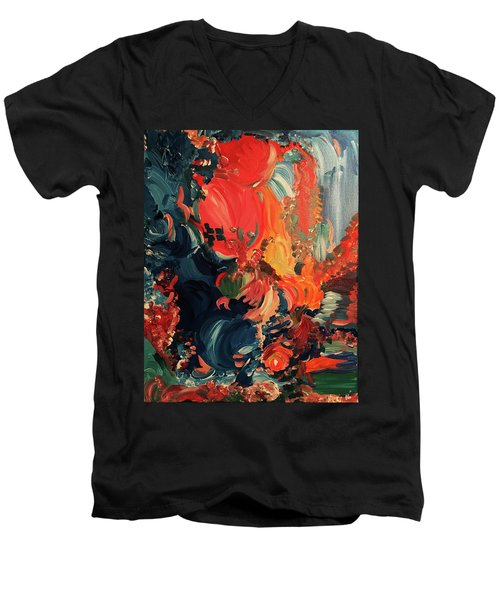 Birds And Creatures Of Paradise Men's V-Neck T-Shirt