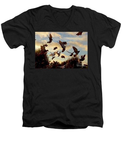 Birds And Fun At Butler Park Austin - Birds 1 Men's V-Neck T-Shirt