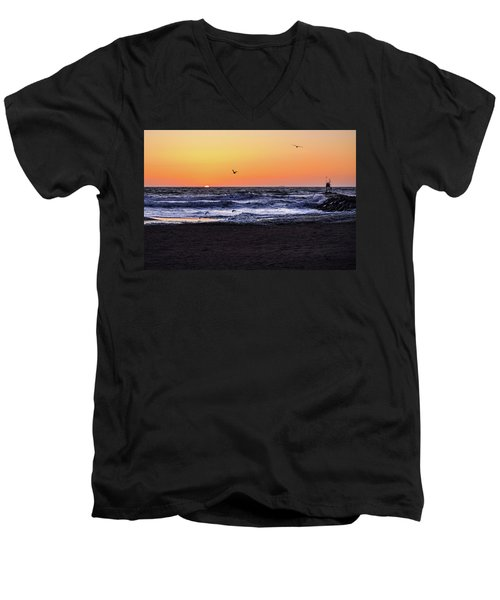 Birds At Sunrise Men's V-Neck T-Shirt