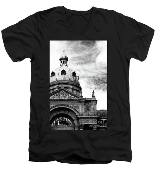 Men's V-Neck T-Shirt featuring the photograph Birmingham Council House  by Baggieoldboy