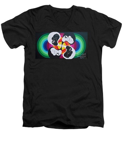 Blaa Kattproduksjoner               Birth Of Solar Energy Men's V-Neck T-Shirt