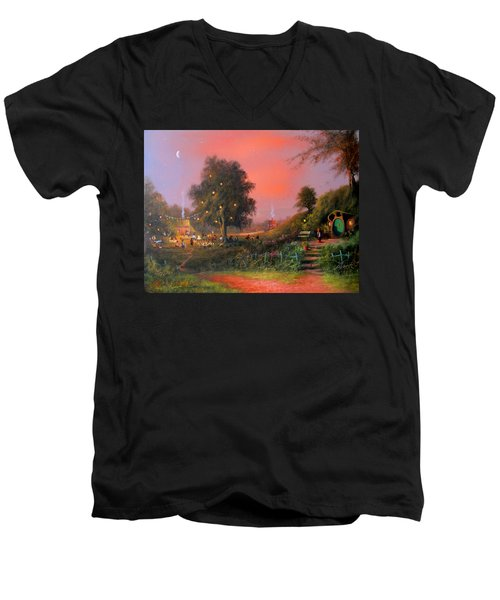 Birthday Party In The Shires Men's V-Neck T-Shirt