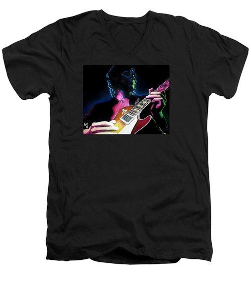 Black Dog Men's V-Neck T-Shirt by Tom Carlton