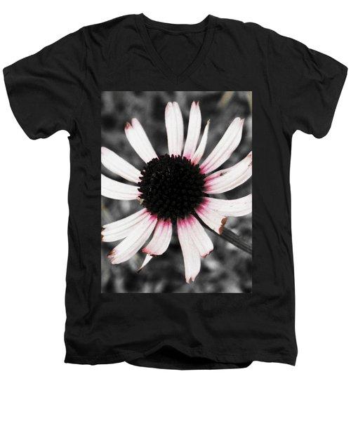 Men's V-Neck T-Shirt featuring the photograph Black Eyed by Deborah  Crew-Johnson