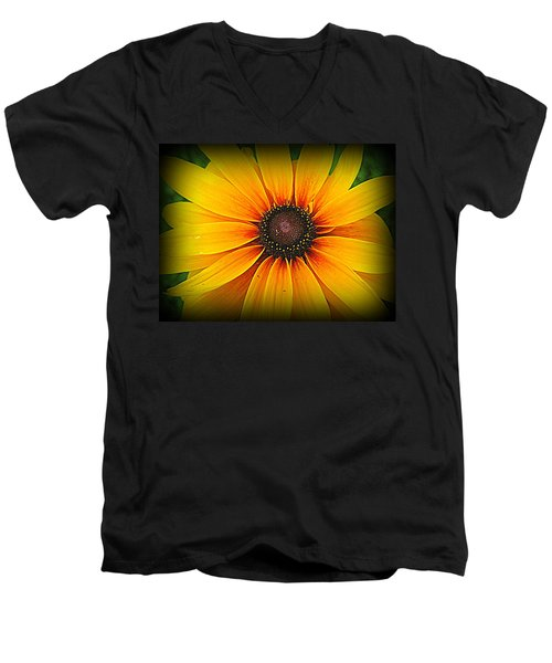 'black Eyed Susan' Men's V-Neck T-Shirt