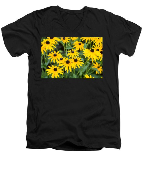 Black-eyed Susan Up Close Men's V-Neck T-Shirt