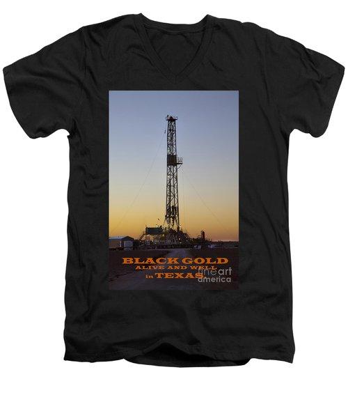 Black Gold Men's V-Neck T-Shirt