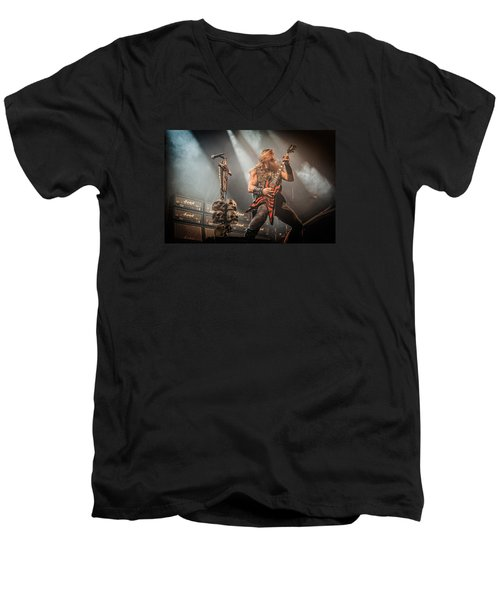 Men's V-Neck T-Shirt featuring the photograph Black Label Society II by Stefan Nielsen