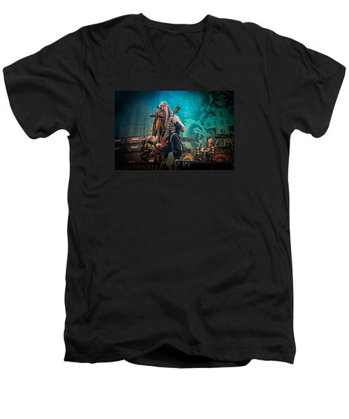 Men's V-Neck T-Shirt featuring the photograph Black Label Society by Stefan Nielsen