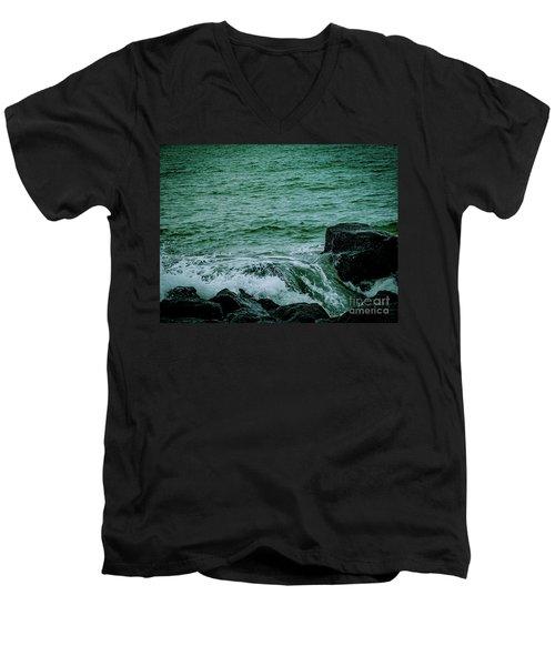 Black Rocks Seascape Men's V-Neck T-Shirt