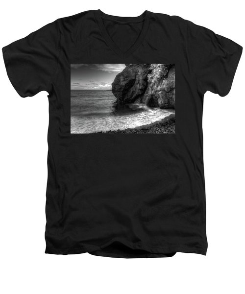 Black Sand Beach Men's V-Neck T-Shirt