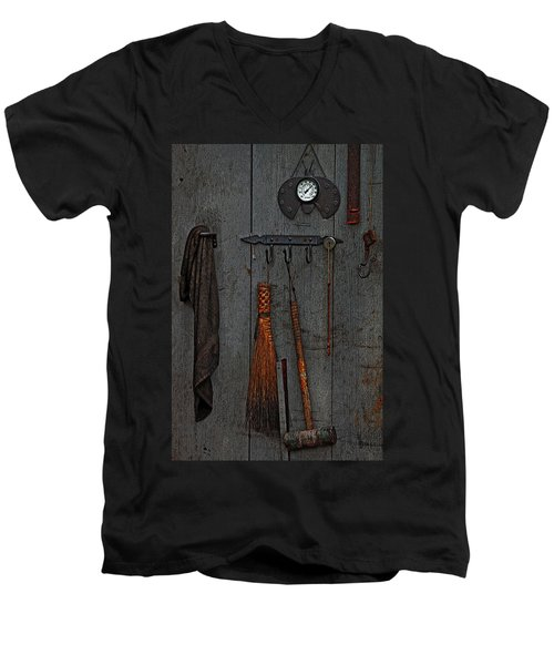 Blacksmith Wall Men's V-Neck T-Shirt by Rowana Ray