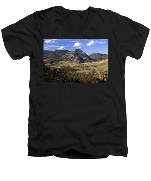 Blacktail Road Landscape 2 Men's V-Neck T-Shirt