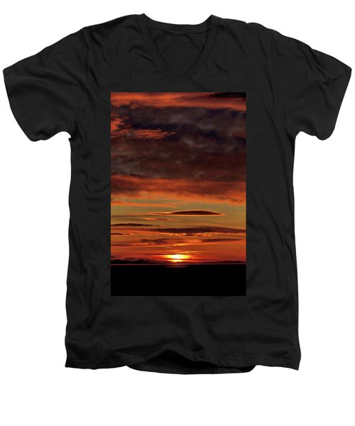 Blazing Sunset Men's V-Neck T-Shirt