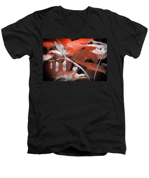 Bleeding Hearts Men's V-Neck T-Shirt by Paul Seymour