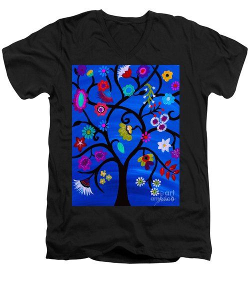 Blessed Tree Of Life Men's V-Neck T-Shirt